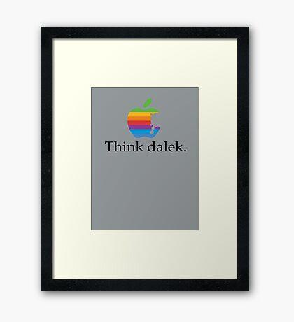 Think even more dalek Framed Print