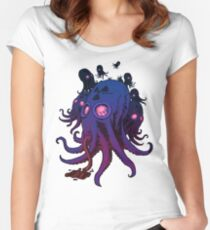 Squidmask, (Blueish/purple) Women's Fitted Scoop T-Shirt