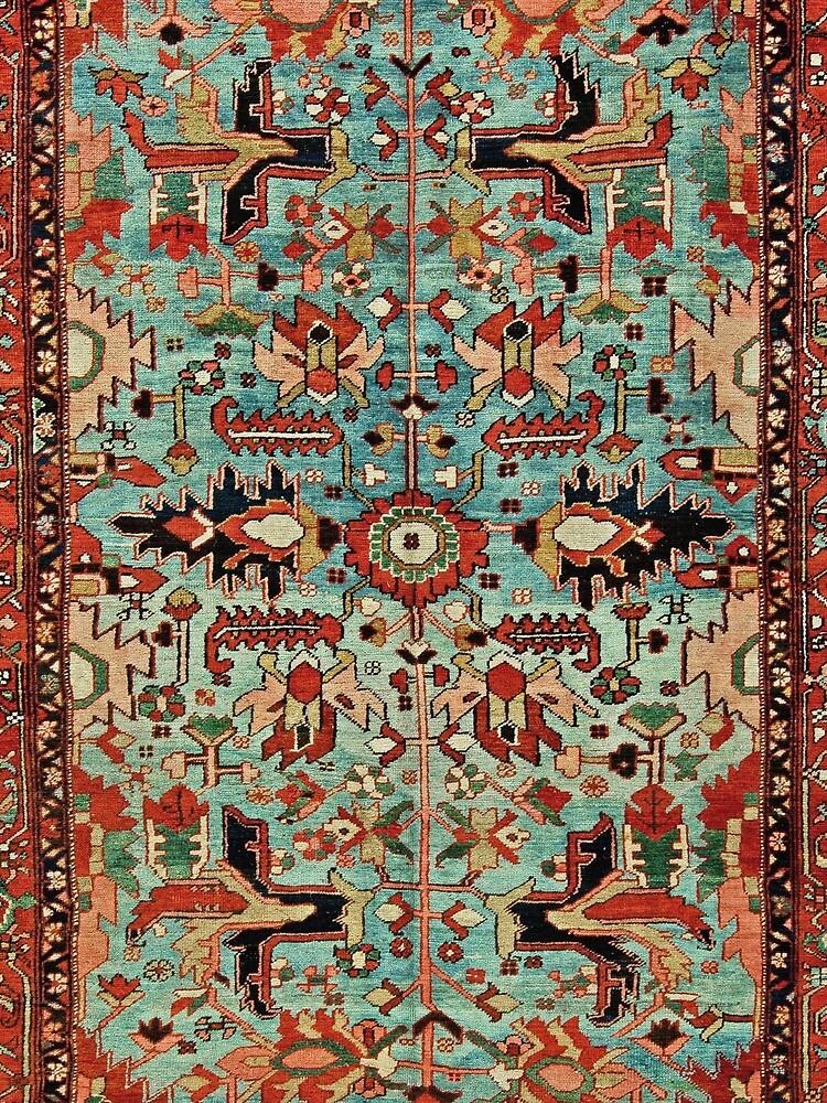 Antique Heriz Persian Carpet Print by bragova