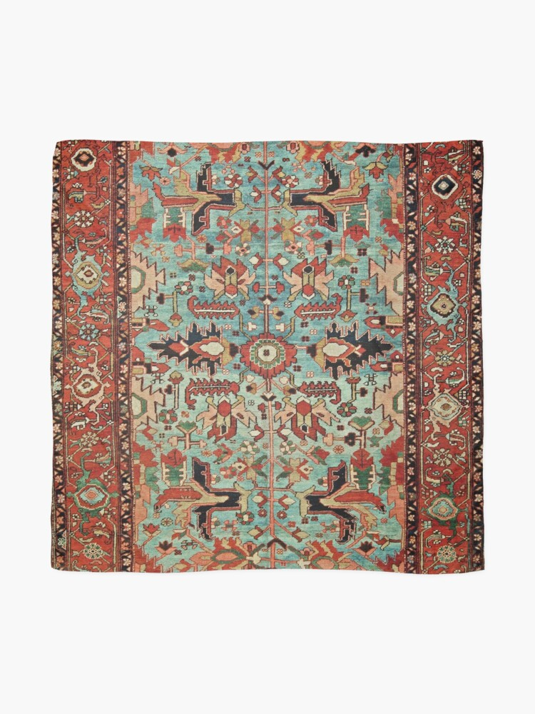 Alternate view of Antique Heriz Persian Carpet Print Scarf