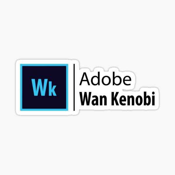Adobe-Wan Kenobi Sticker