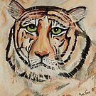Melancholic Tiger by Mark Young