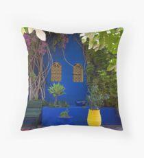 Majorelle Gardens, Marrakech. Throw Pillow