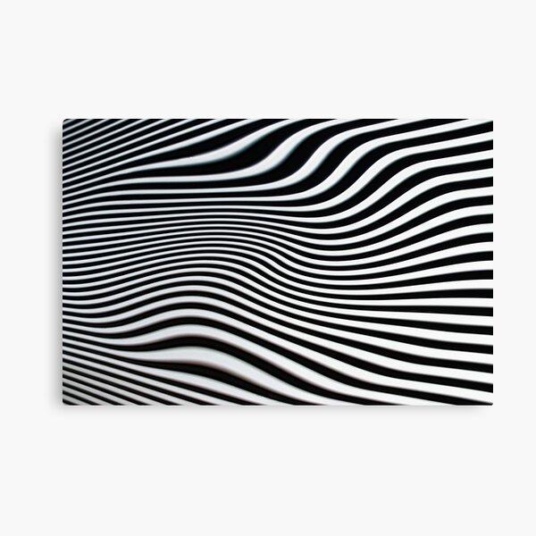 Op-art black and white swirly stripes Canvas Print