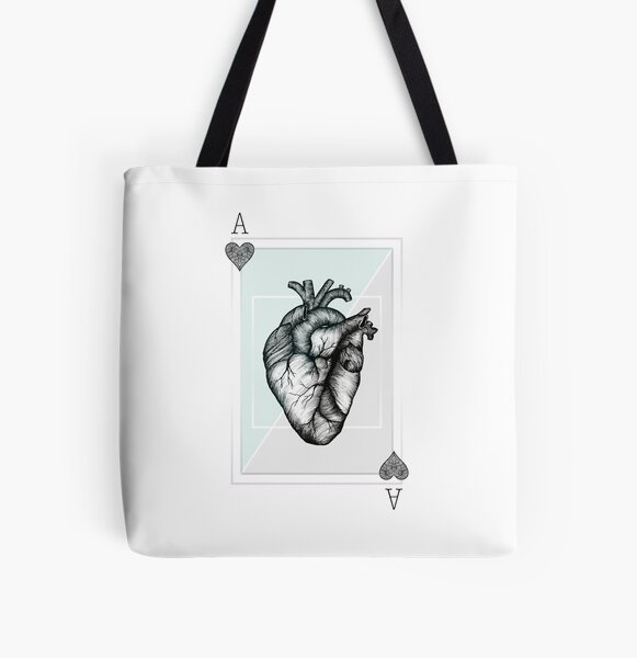 Ace Of Hearts - Mint All Over Print Tote Bag