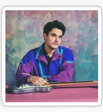 John Mayer 80's style Sticker