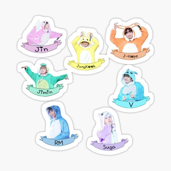 BTS Sticker Set Kigurumi - Verificar descripción Pegatina