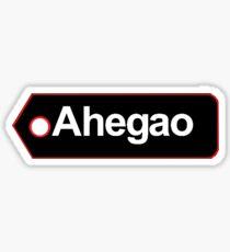 Ahegao Tag Sticker Sticker