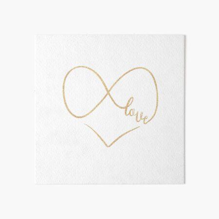 Infinite love by Alice Monber Art Board Print