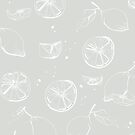 Lemons - soft grey von youdesignme