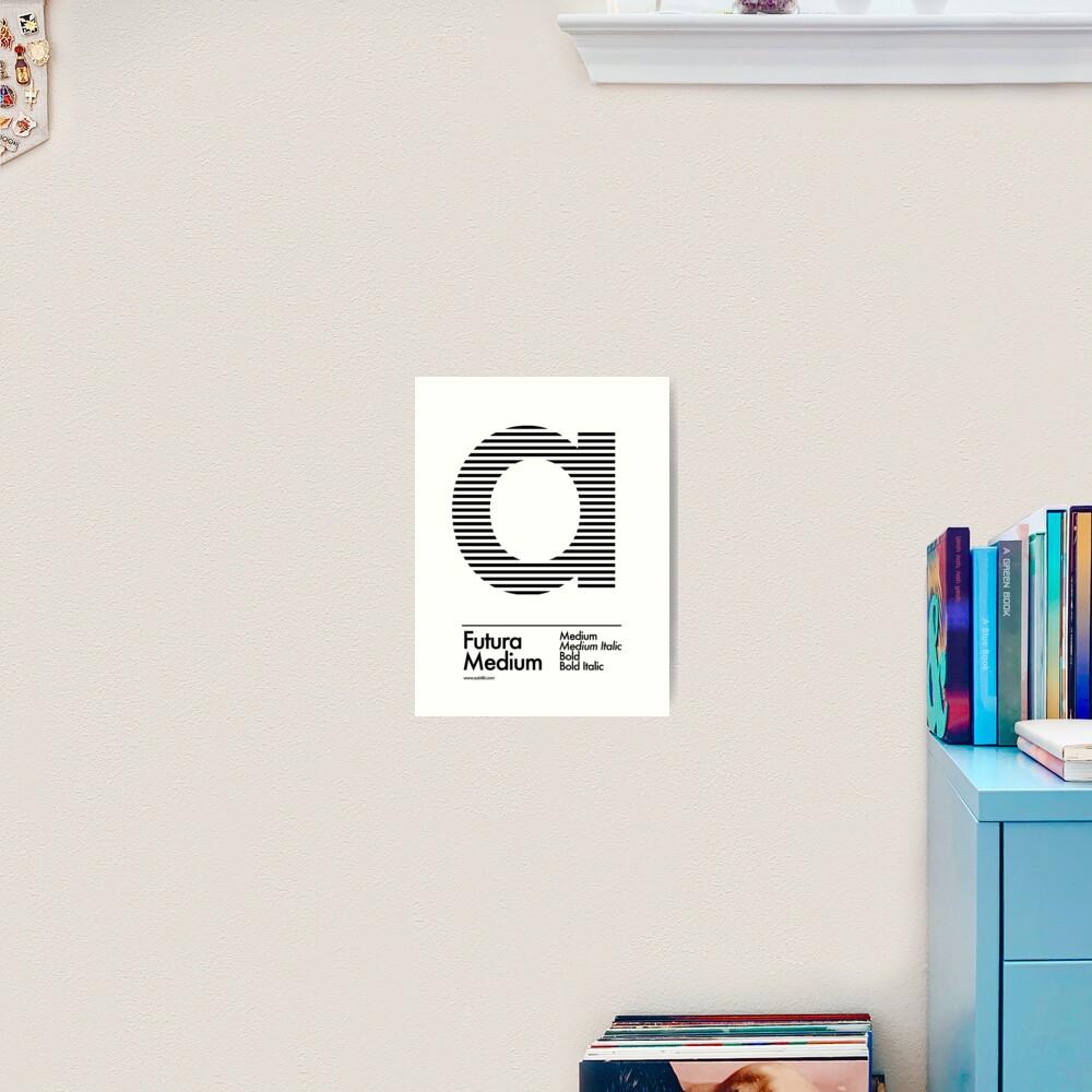 The Letter a Futura Type Art Print
