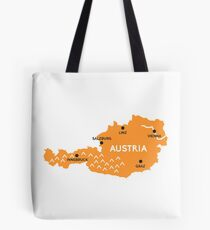 austria map Tote Bag