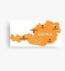 austria map Canvas Print
