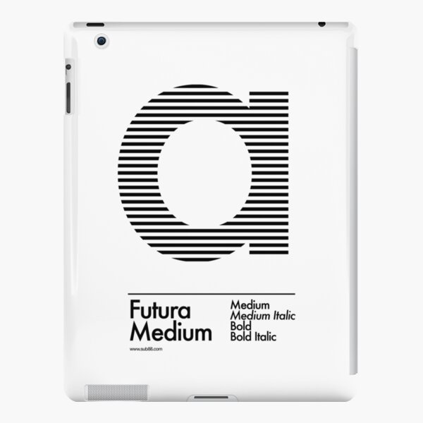 The Letter a Futura Type iPad Snap Case
