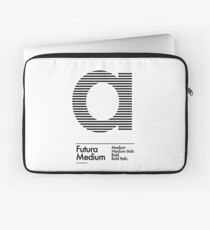 The Letter a Futura Type Laptop Sleeve