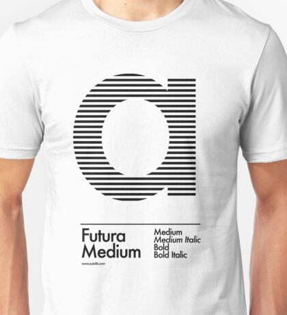 The Letter a Futura Type T-Shirt