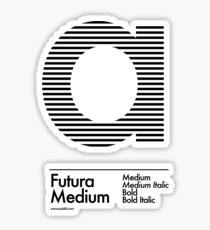 The Letter a Futura Type Sticker