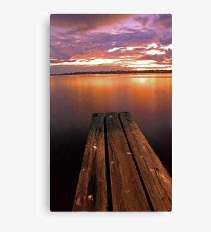 Swan River Jetty Sunset  Canvas Print