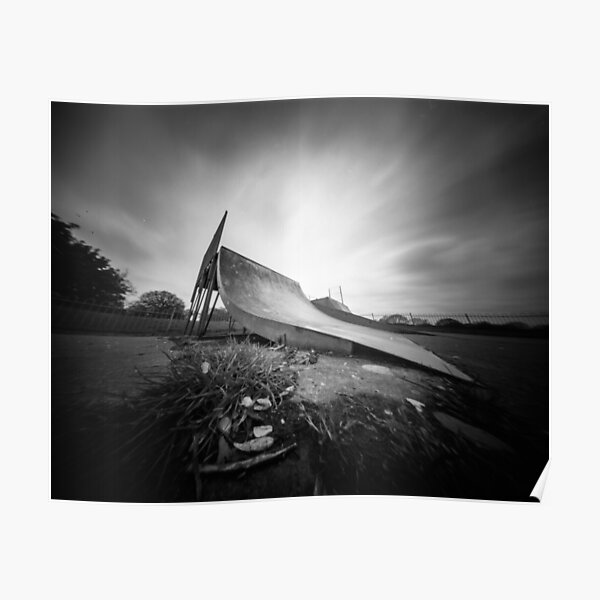 Ready to launch - Skate Ramp - Pinhole photo Poster