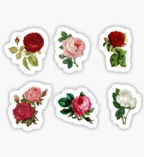 Set of stickers - rose flower arrangements Sticker
