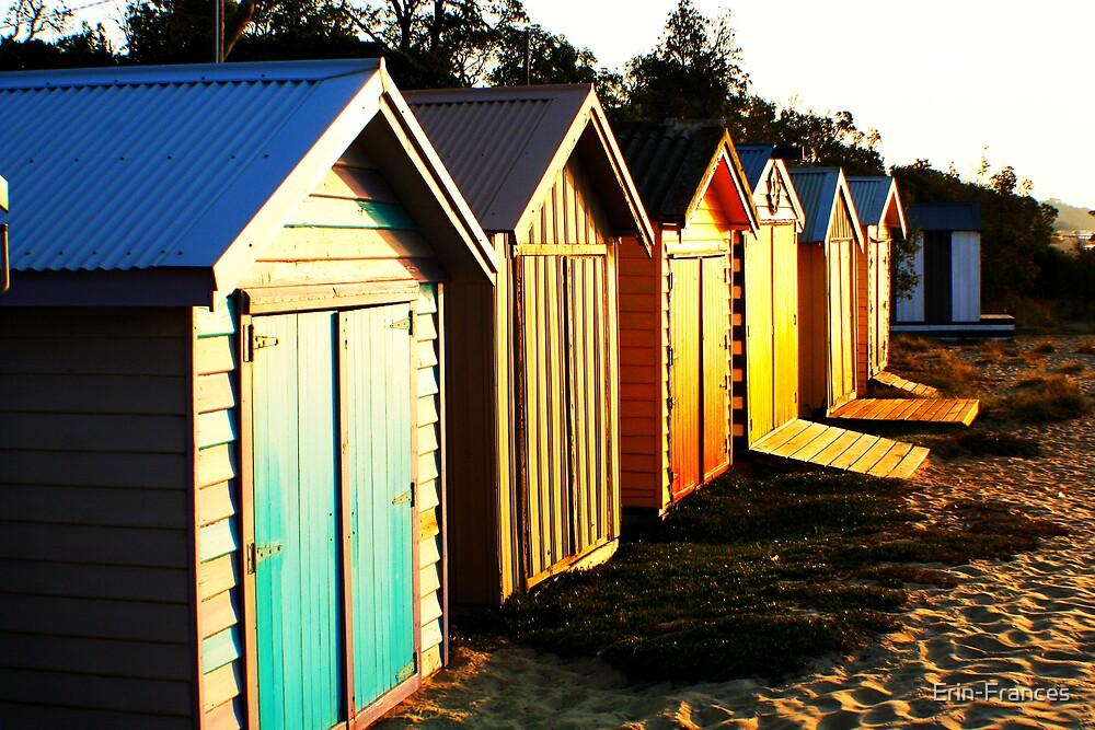 Beach huts by Erin-Frances