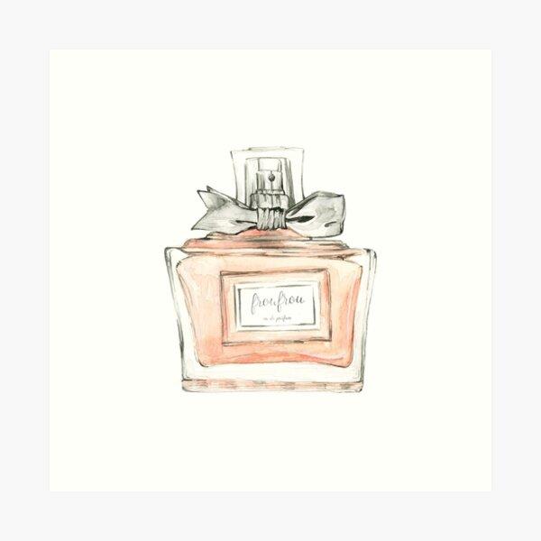 Watercolor perfume bottle Art Print