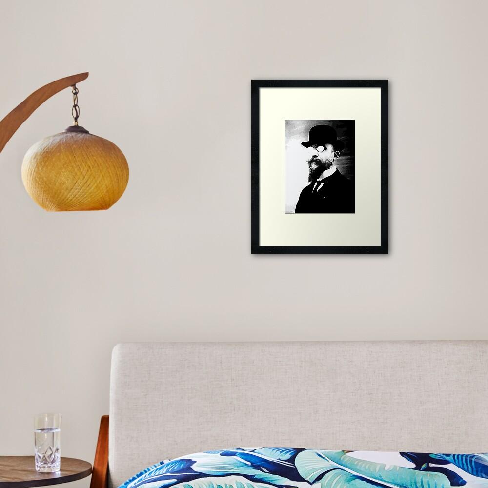 Erik Satie - classical music Framed Art Print