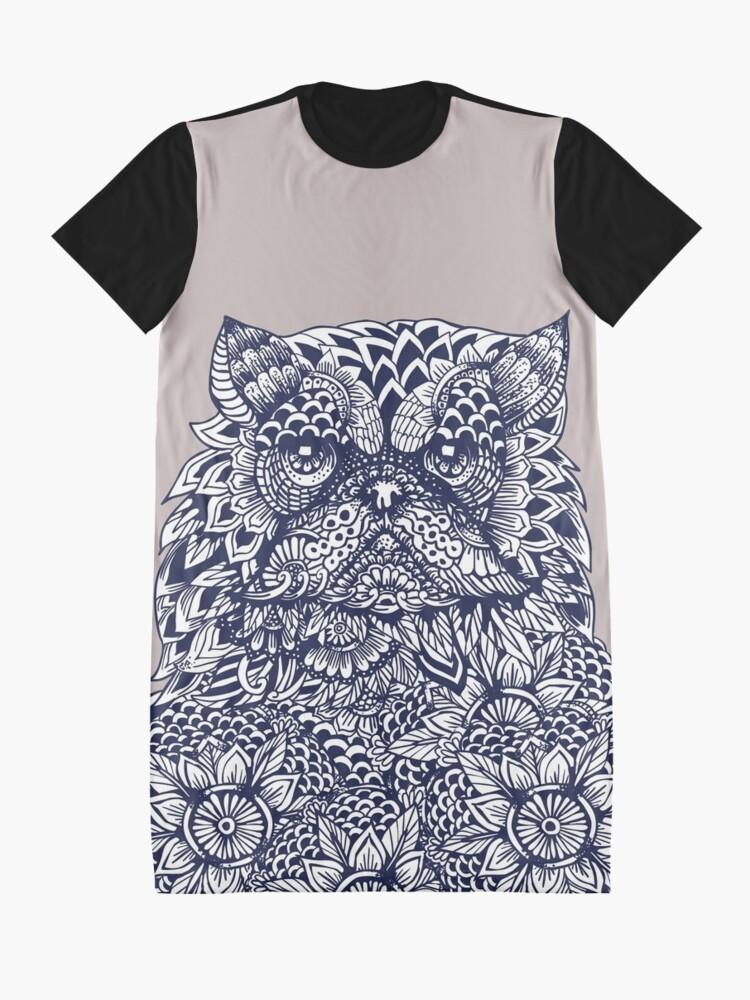 Vista alternativa de Vestido camiseta Mandala de gato persa