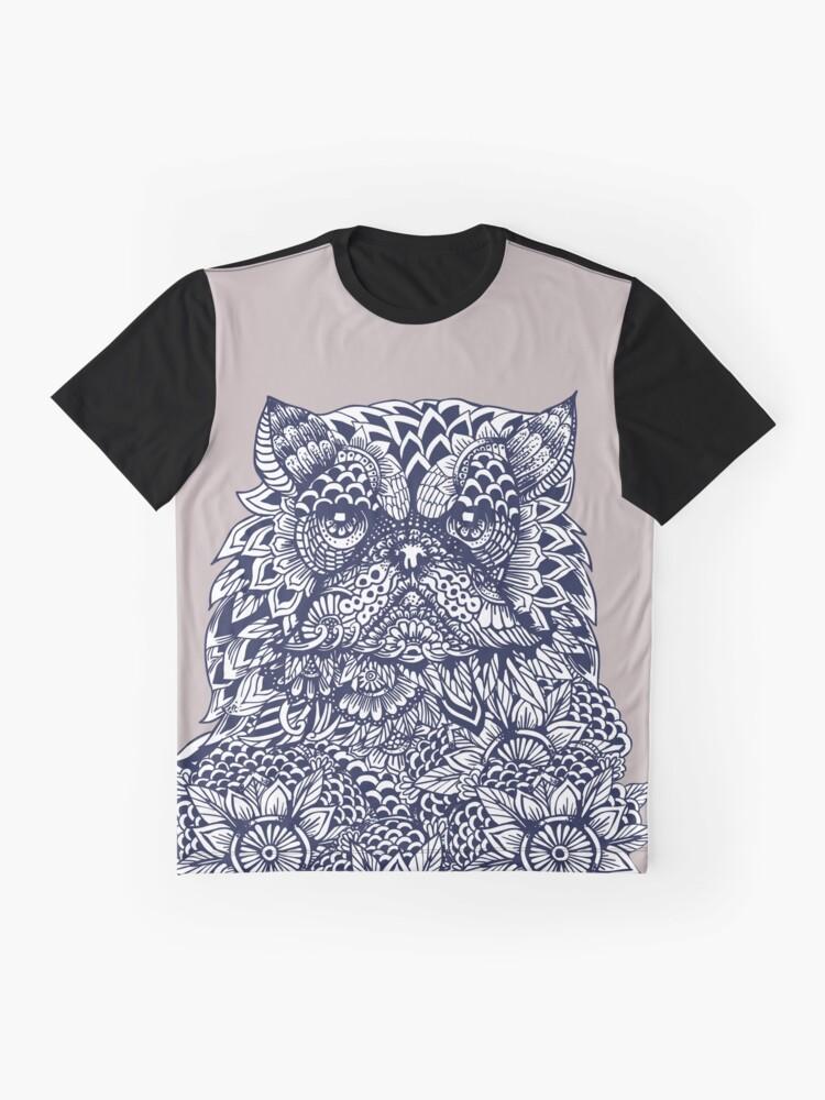 Vista alternativa de Camiseta gráfica Mandala de gato persa