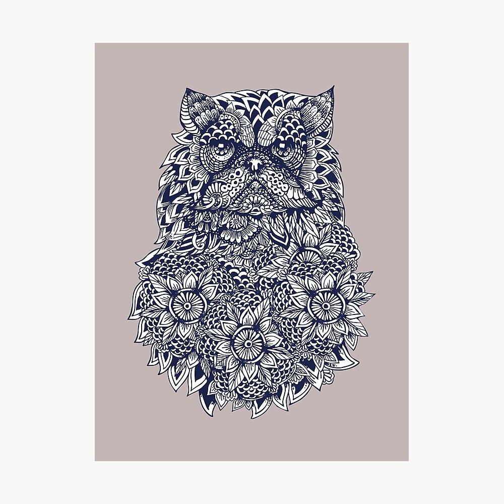 Mandala de gato persa Lámina fotográfica