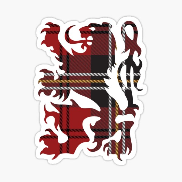 MacPherson Red Cluny Plaid Sticker