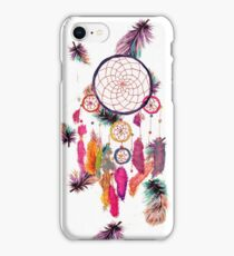Hipster Watercolor Dreamcatcher Feathers Pattern iPhone Case/Skin