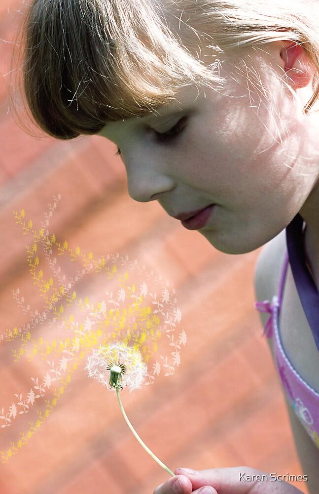 Dandelion wish by Karen Scrimes