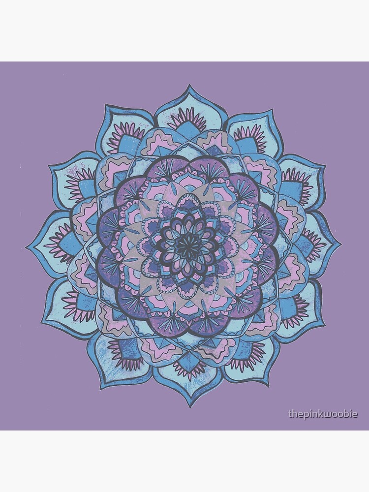 Purple and Blue Mandala  by thepinkwoobie