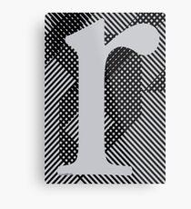 r / grey Metal Print