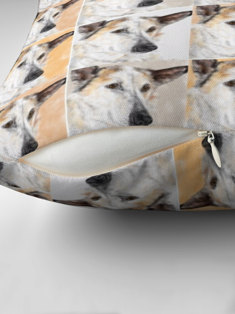 Alternate view of Sweet Pooch - In Four Shades  Throw Pillow