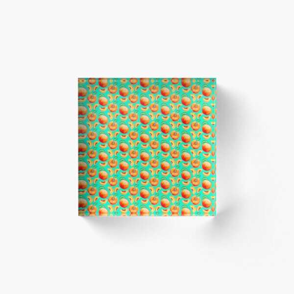 Peaches Acrylic Block