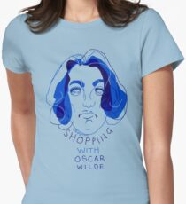"""shopping with Oscar Wilde"" Womens Fitted T-Shirt"