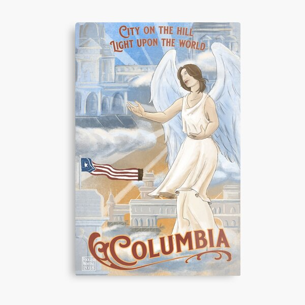 Columbia - City on the Hill, Light Upon the World  Metal Print