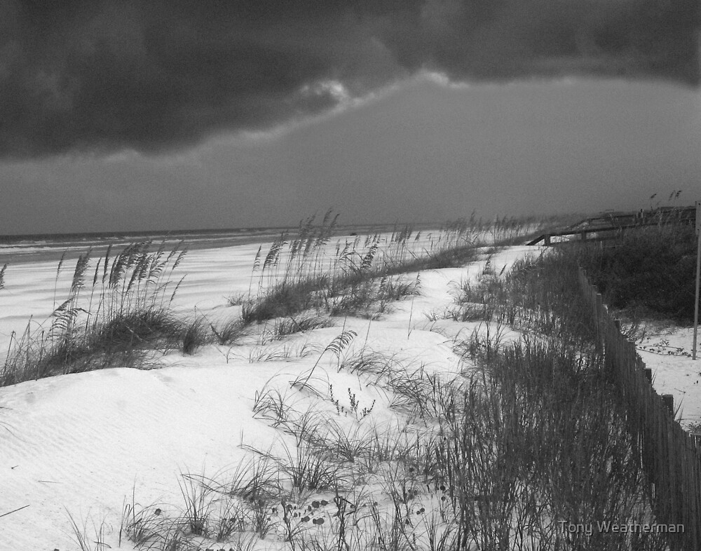 Black and White of Storm by Tony Weatherman