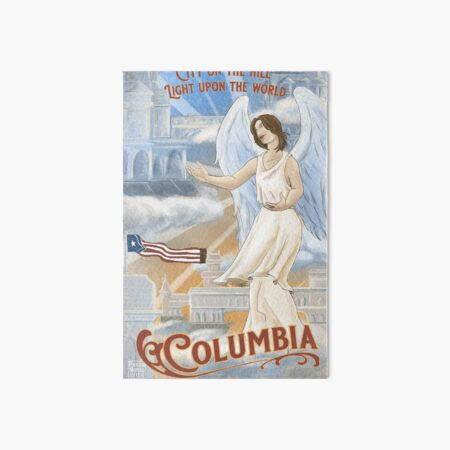 Columbia - City on the Hill, Light Upon the World  Art Board Print