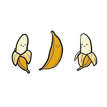 Cute Banana Trio by tofusan