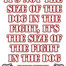 Mark Twain - size of the fight in the dog... (Amazing Sayings - Special Edition) by gshapley