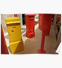 Old mail boxes Poster