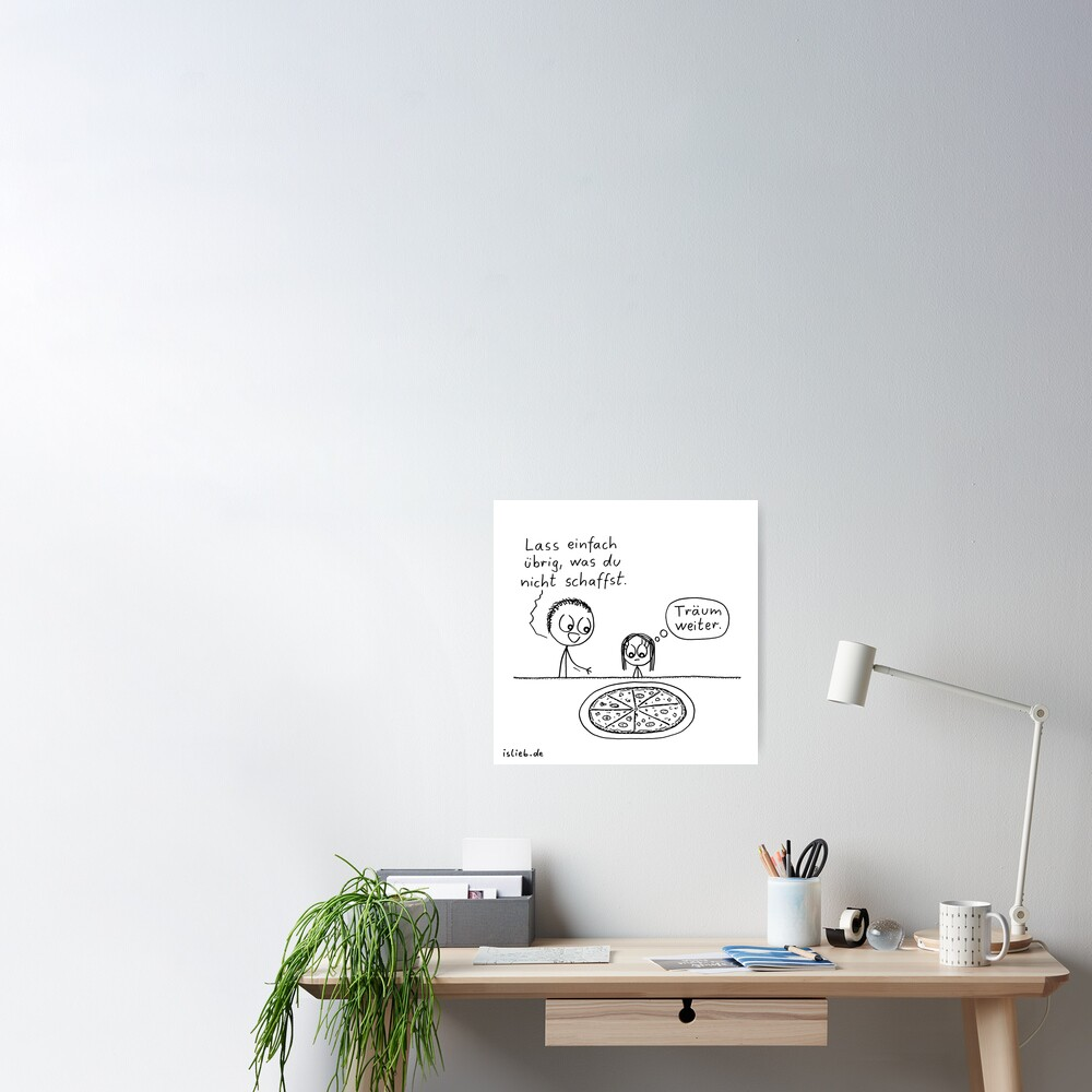Uebrig lassen - islieb-Comic Poster