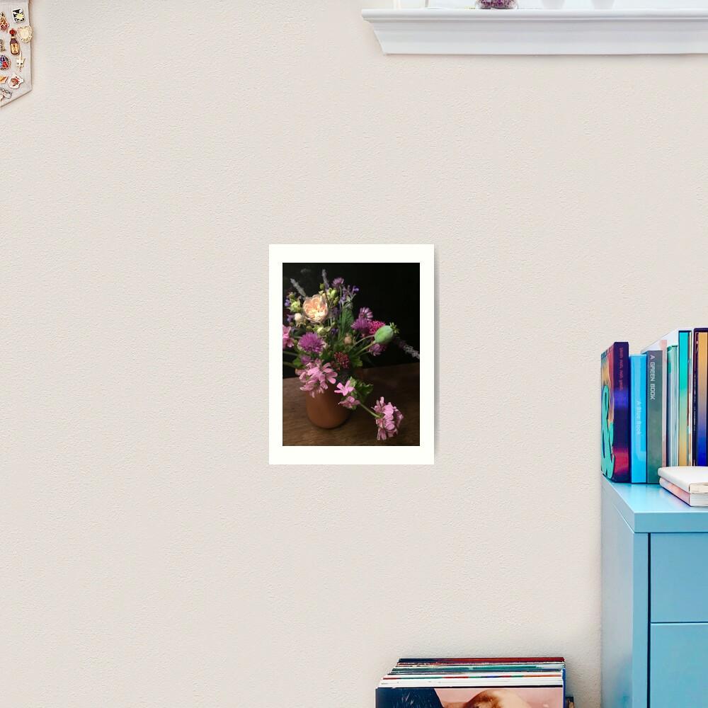 Garden Bouquet By Night Art Print