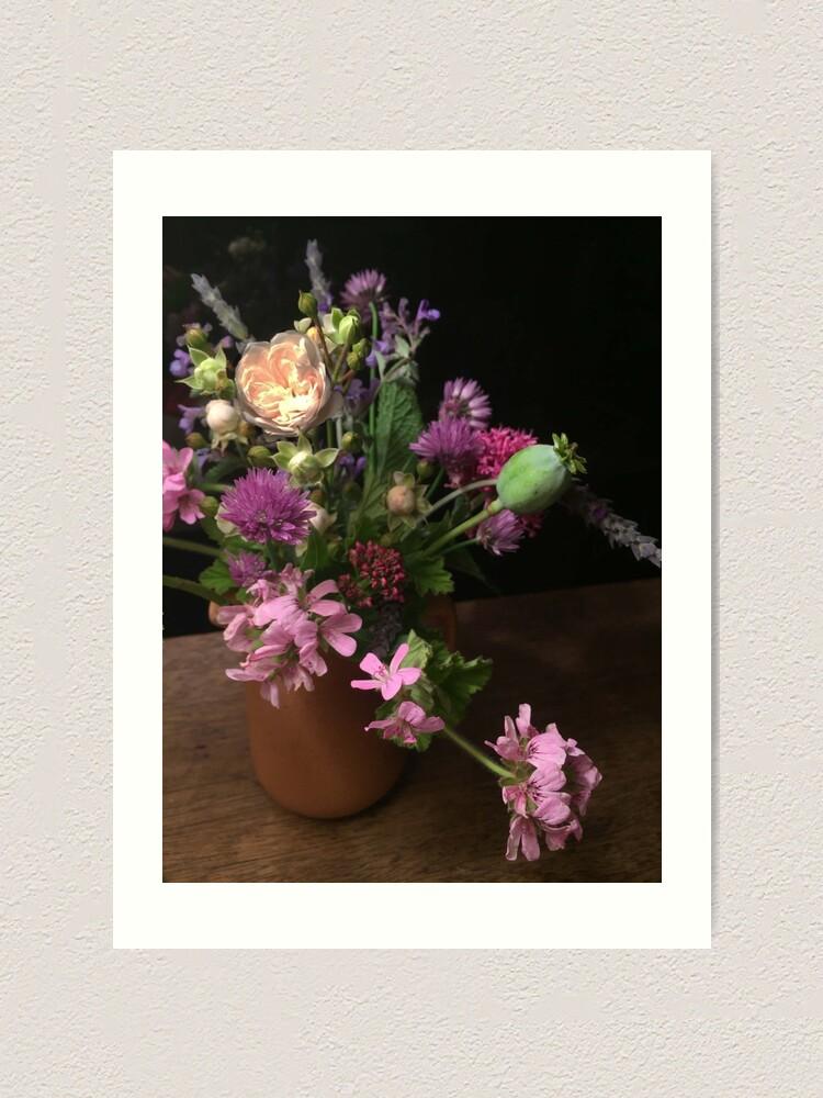 Alternate view of Garden Bouquet By Night Art Print