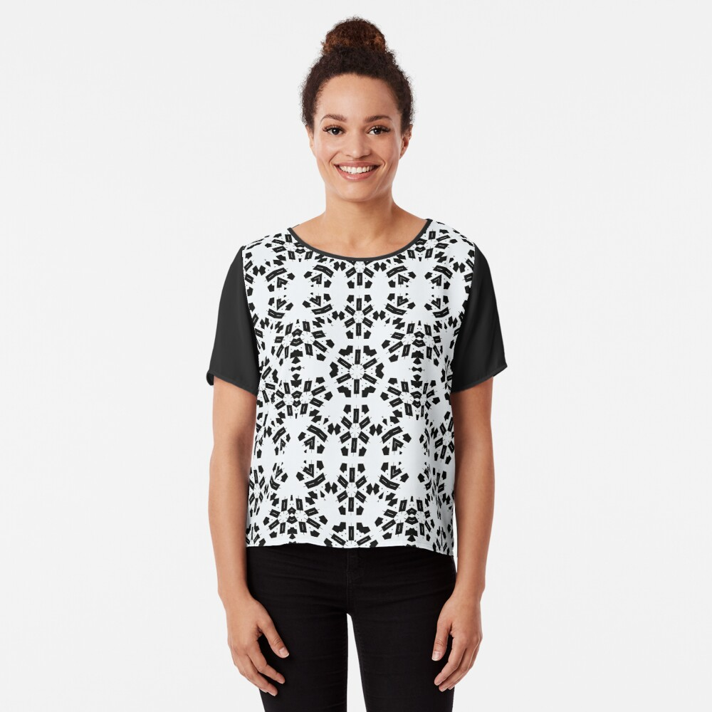 pattern, design, tracery, weave, decoration, motif, marking, ornament, ornamentation, #pattern, #design, #tracery, #weave, #decoration, #motif, #marking, #ornament, #ornamentation Chiffon Top