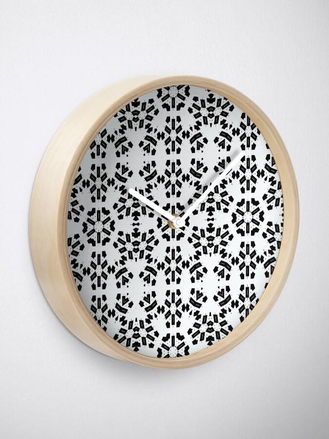 Alternate view of pattern, design, tracery, weave, decoration, motif, marking, ornament, ornamentation, #pattern, #design, #tracery, #weave, #decoration, #motif, #marking, #ornament, #ornamentation Clock