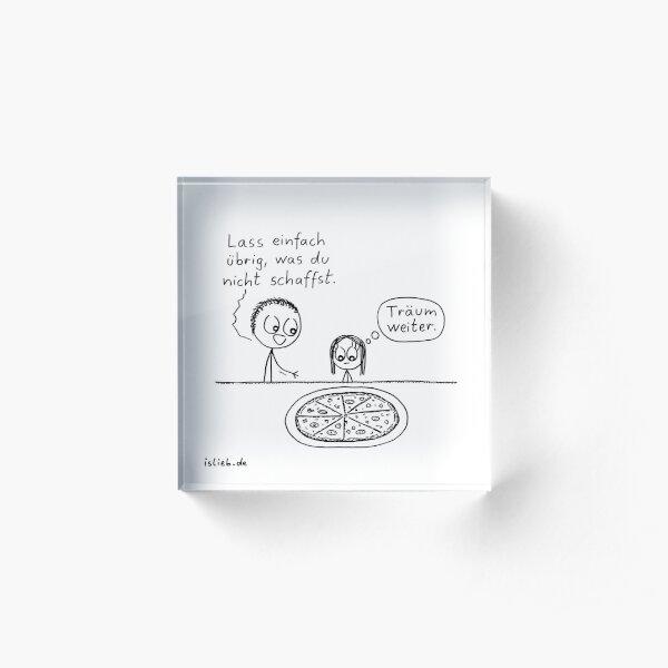 Uebrig lassen - islieb-Comic Acrylblock